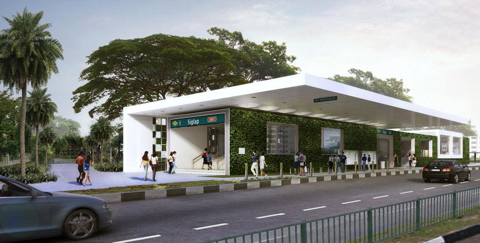 Seaside Residences Siglap Road Siglap MRT Station Frasers Centrepoint Siglap Link